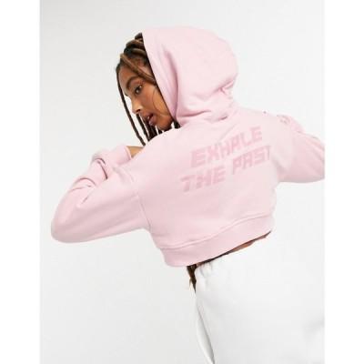 ベルシュカ Bershka レディース パーカー トップス Cropped Hoodie Co-Ord In Pink ピンク