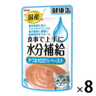 アイシア健康缶 水分補給 かつおペースト 40g 8袋 国産 キャットフード ウェット パウチ