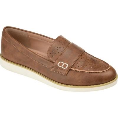 ジュルネ コレクション Journee Collection レディース スリッポン・フラット シューズ・靴 Comfort Foam(TM) Whitney Flat Brown