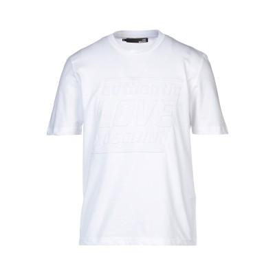 ラブ モスキーノ LOVE MOSCHINO T シャツ ホワイト XS コットン 100% / ポリウレタン T シャツ