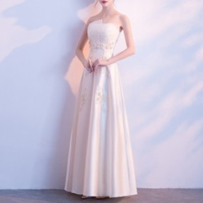 演奏會用 ロングドレス 赤 カラードレス イブニングドレス ロング 発表會 大人ドレス 韓國 パーティードレス 花柄 刺繍 マキ