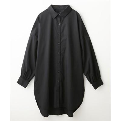 バックオープンデザインロングシャツ (ブラウス)Blouses, Shirts, テレワーク, 在宅, リモート