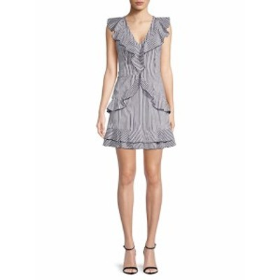 パーカー レディース ワンピース Stripe Cotton Sheath Dress