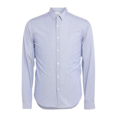 SANDRO ストライプ柄シャツ ファッション  メンズファッション  トップス  シャツ、カジュアルシャツ  長袖 アジュールブルー