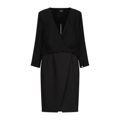 ELISABETTA FRANCHI ミニワンピース&ドレス ブラック 44 レーヨン 100% / ポリエステル / ポリウレタン ミニワンピース