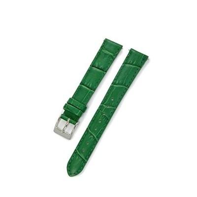 CASSIS[カシス] カーフ 型押し 時計ベルト 裏面防水素材 AVALLON アバロン 14mm グリーン 交換用工具付き X1022238075