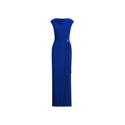 POLO RALPH LAUREN ロングワンピース&ドレス ブルー 2 ポリエステル 95% / ポリウレタン 5% ロングワンピース&ドレス