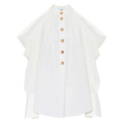 モンス Monse レディース ブラウス・シャツ トップス Cotton and linen shirt Linen