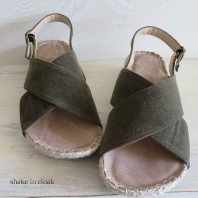 【SALE】shake in cloak クロスサンダル フェイクレザー 合成繊維 合成皮革 KY-308 定価4,378円