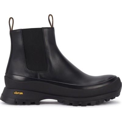 ジル サンダー Jil Sander レディース ブーツ ショートブーツ シューズ・靴 50 Black Leather Ankle Boots Black