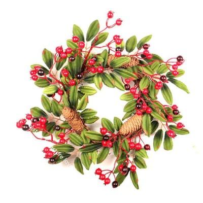 インテリア クリスマス花輪 松かさ アートフラワー 造花 壁面ユニット 壁掛け フェイクグリーン ウェディング 枯れない花 永遠の花 庭園