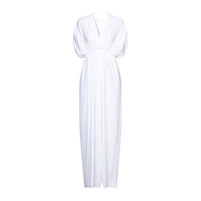 FISICO ロングワンピース&ドレス ホワイト S ナイロン 89% / ポリウレタン 11% ロングワンピース&ドレス