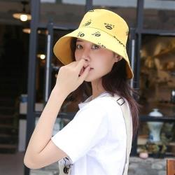 【米蘭精品】漁夫帽棉質遮陽帽-嘴唇印花雙面雙色男女帽子6色73yg14