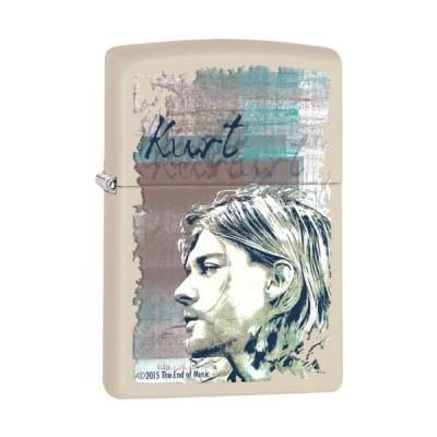 """オイルライター ジッポ Zippo """"Kurt Cobain"""" クリーム マット仕上げ ライター ***Flints Wick***  29051"""