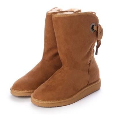 シューズラウンジ アウトレット shoes lounge OUTLET ショートブーツ 3650014C (キャメル)
