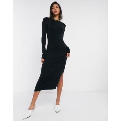 フレンチコネクション French Connection レディース ワンピース ワンピース・ドレス Babysoft Crew Neck Maxi Dress In Black ブラック