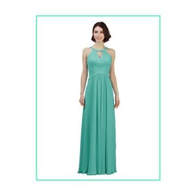 Alicepub Keyhole Neckline Chiffon Bridesmaid Dress Long Formal Evening Prom Gown, Tiffany, US12並行輸入品