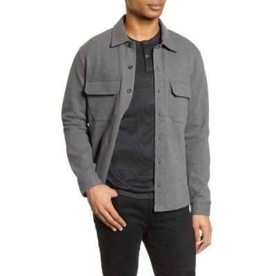 ヴィンス ジャケット・ブルゾン アウター メンズ Slim Fit Shirt Jacket Med H Grey