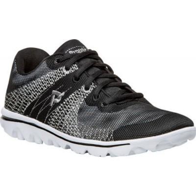 プロペット Propet レディース ランニング・ウォーキング スニーカー シューズ・靴 TravelActiv Knit Sneaker Black/White/D Knit