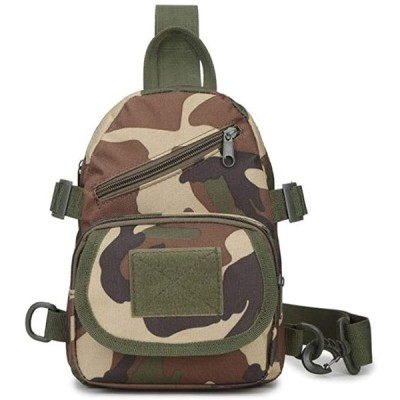 ボディバッグ ワンショルダー アウトドア 収納 ポケット 多数 大容量 迷彩 MDM(カモフラージュ, 18cmx6cmx25cm)