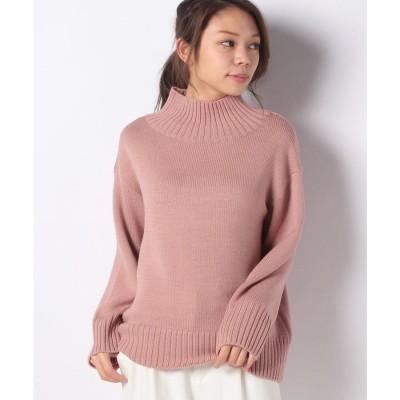 レリアンプラスハウス 【my perfect wardrobe】ハイネックセ-タ-(ピンク系)