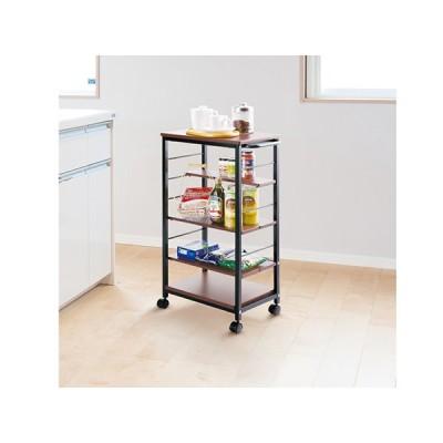 キッチンワゴン キャスター付き 幅30cm 隙間収納 スリム ハイタイプ キッチン収納 作業台 台所収納 小物 炊飯器 レンジ