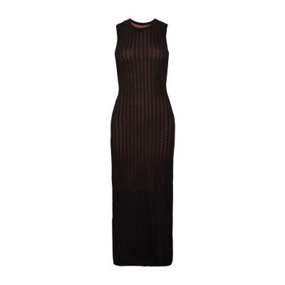 エー・エル・シー A.L.C. ロングワンピース&ドレス ブラック L レーヨン 60% / ナイロン 40% ロングワンピース&ドレス