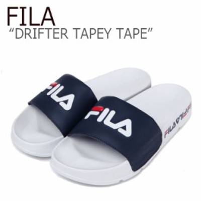 フィラ サンダル FILA メンズ レディース DRIFTER TAPY TAPE ドリフター テーピーテープ ホワイト ネイビー FS1SLB1003X シューズ
