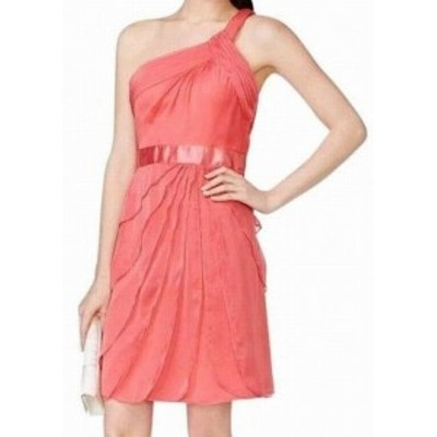 Adrianna Papell アドリアーナ パペル ファッション ドレス Adrianna Papell NEW Pink Womens Size 6 One-Shoulder Sheath Dress