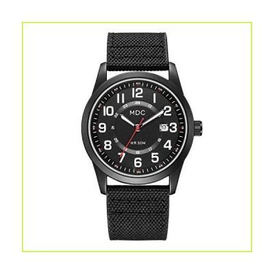 ブラック ミリタリー アナログ腕時計 メンズ アーミーフィールド タクティカル スポーツウォッチ ワー