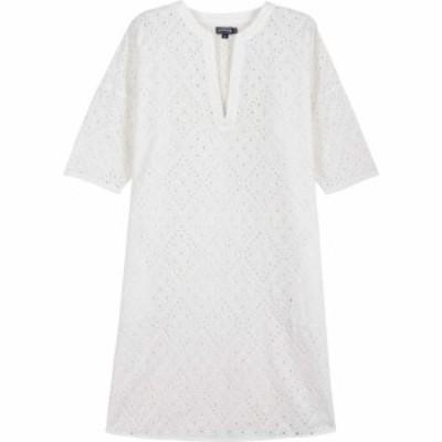 ヴィルブレクイン VILEBREQUIN レディース ワンピース チュニックドレス ワンピース・ドレス Eyelet Embroidery Tunic Dress White