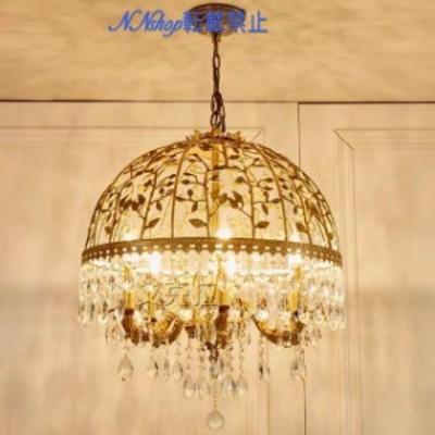高級水晶ペンダントライト .銅製洋風照明シャンデリア北欧デザイン シーリングライト 天井照明