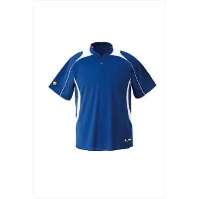 [DESCENTE]デサント野球 ジュニアベースボールシャツ (JDB110B)(RYSW) ロイヤルブルー×Sホワイト
