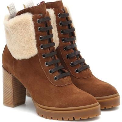 ボグナー Bogner レディース ブーツ ショートブーツ シアリング シューズ・靴 Sofia Suede And Shearling Ankle Boots Oak