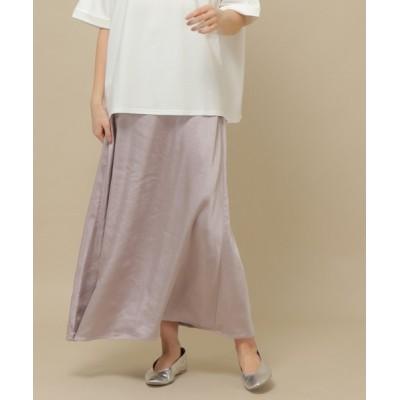 スカート サテンナロースカート