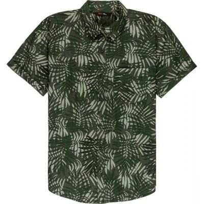 ストイック Stoic メンズ 半袖シャツ トップス Camo Frond Shirt Olive
