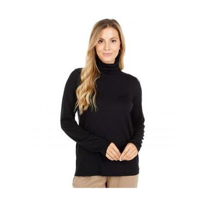 Eileen Fisher アイリーンフィッシャー レディース 女性用 ファッション Tシャツ Scrunch Neck Top - Black