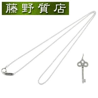 ティファニー TIFFANY フルールドリスキー ダイヤネックレス ペンダント  PT950 × ダイヤ 約0.12ct 8942
