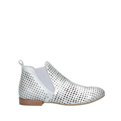 CAFENOIR ショートブーツ  レディースファッション  レディースシューズ  ブーツ  その他ブーツ シルバー