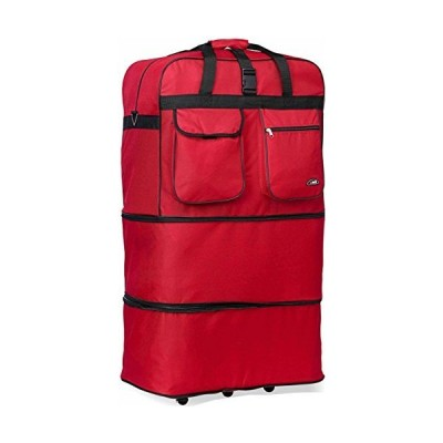 Rolling Wheeled Duffle/duffel Bag/spinner Suitcase Luggage Expandable (30 inch, Red)