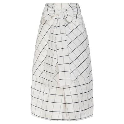 ジェントリーポルトフィーノ GENTRYPORTOFINO ロングスカート ホワイト 40 コットン 68% / ポリエステル 32% ロングスカート