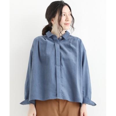 【ニーム/NIMES】 French Blue ボリュームシャツ(コーデュロイ)