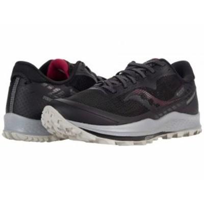 Saucony サッカニー レディース 女性用 シューズ 靴 スニーカー 運動靴 Peregrine 11 GTX Black/Cherry【送料無料】