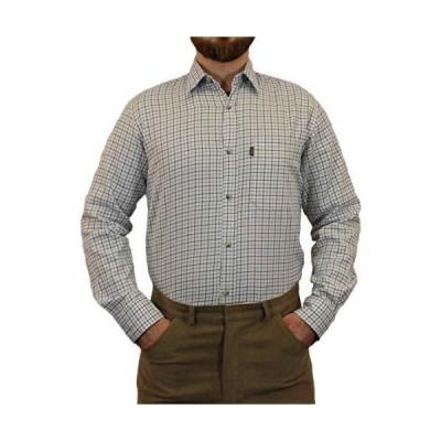 GAME Mens Tattersall Shirt - Blue Medium Blue