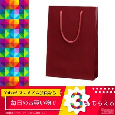 (まとめ) シモジマ ブライトバッグ 6138202 エンジ 1枚入 〔×10セット〕