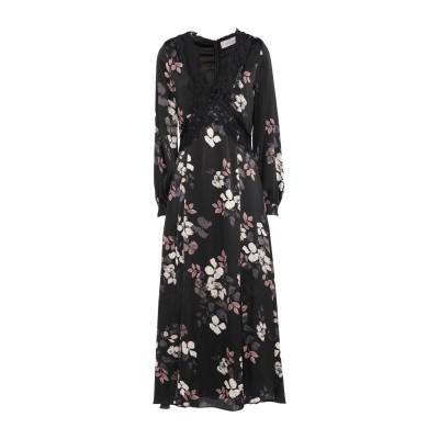 VITTORIA ROMANO ロングワンピース&ドレス ブラック 42 ポリエステル 100% ロングワンピース&ドレス