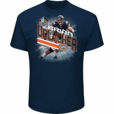 Majestic マジェスティック スポーツ用品  Majestic Brian Urlacher Chicago Bears Navy NFL Hall of Fame Inductee Playe