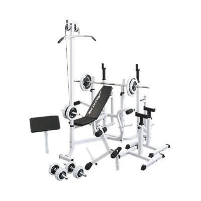 《パッドプレゼント中》 マルチフルセット 白ラバー70kg / 筋トレ トレーニング器具 ダンベル バーベル ベンチプレス ホームジム