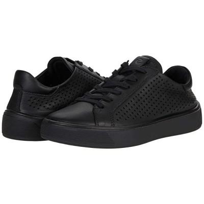 エコー Street Tray Perforated Sneaker レディース スニーカー Black Cow Leather