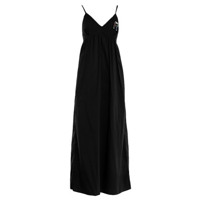 レリッシュ RELISH ロングワンピース&ドレス ブラック M コットン 70% / ナイロン 27% / ポリウレタン 3% ロングワンピース&